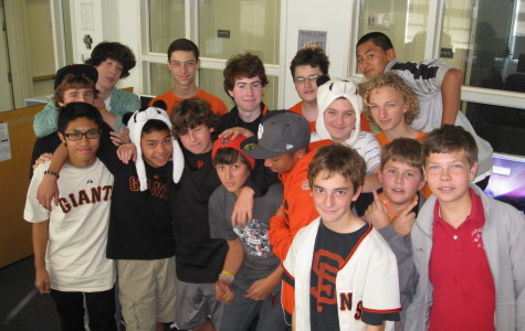 Freshman heading out to the Giants Parade