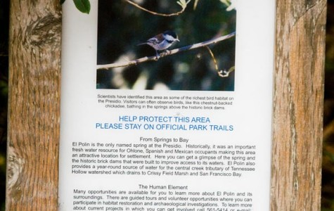 The sign explaining the significance of El Polin Springs