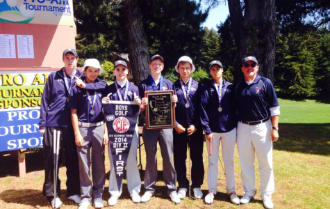 The golf team poses for a photo after the NCS win last year.