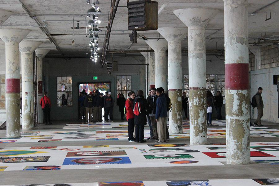 Students explore the Ai Wei Wei exhibit on Alcatraz, as a part of last year's Values Day.