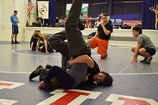 Wrestlers win league season title