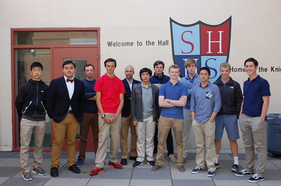 The+new+execs+pose+for+a+photo+with+Student+Council+Moderator%2C+Mr.+Roos.+
