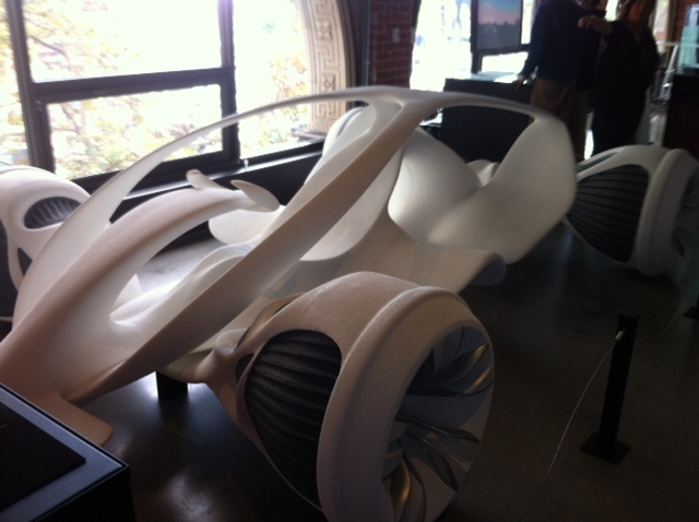 A variety of innovative designs can be found at Autodesk, including this 3D car.