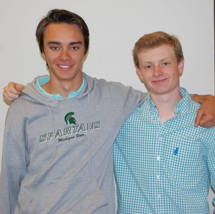 President, Michael Tellini, and Vice President, Patrick Dilworth, pose for a photo after winning the election.