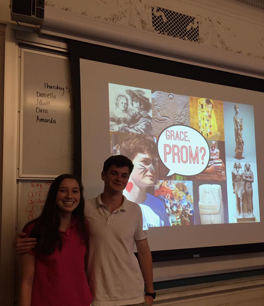 Jack Merrigan '17 successfully asks his date to prom.